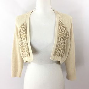 Anthropologie Knitted and Knotted Sweater Shrug M
